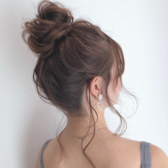 モテ髪 小顔ヘア ヘアセット ナチュラル ヘアスタイルや髪型の写真・画像