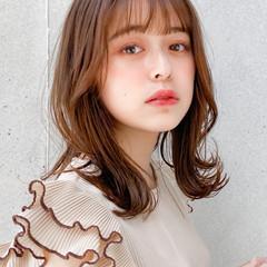 ミディアムレイヤー デート ナチュラル モテ髪 ヘアスタイルや髪型の写真・画像