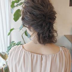 ヘアアレンジ ナチュラル 結婚式 ロブ ヘアスタイルや髪型の写真・画像