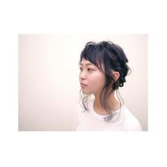 三つ編み くるりんぱ ヘアアレンジ 夏 ヘアスタイルや髪型の写真・画像