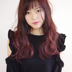 ゆるふわ セミロング ピンク 大人かわいい ヘアスタイルや髪型の写真・画像