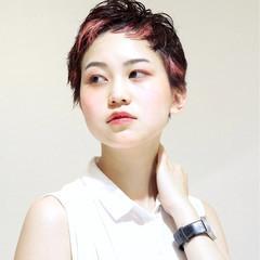 モード ハイライト ベリーショート ショート ヘアスタイルや髪型の写真・画像