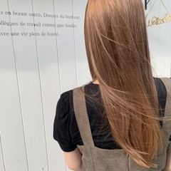 透明感カラー ロング 大人可愛い イルミナカラー ヘアスタイルや髪型の写真・画像