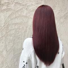 ピンク レッド スポーツ 透明感 ヘアスタイルや髪型の写真・画像