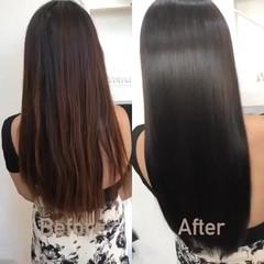 髪質改善 デート 美髪 ストレート ヘアスタイルや髪型の写真・画像
