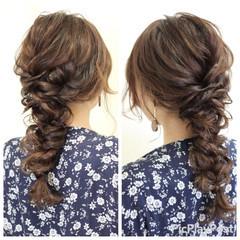 結婚式 二次会 フェミニン ヘアアレンジ ヘアスタイルや髪型の写真・画像
