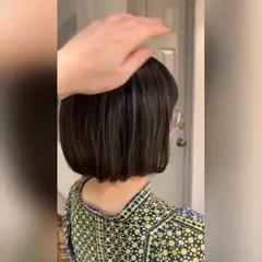 ゆるふわ エレガント インナーカラー ショートボブ ヘアスタイルや髪型の写真・画像