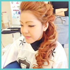ヘアアレンジ ロング 渋谷系 編み込み ヘアスタイルや髪型の写真・画像