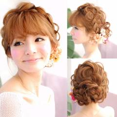 ストリート 大人かわいい セミロング ヘアアレンジ ヘアスタイルや髪型の写真・画像