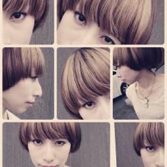 ショート ストリート 秋 ヘアスタイルや髪型の写真・画像