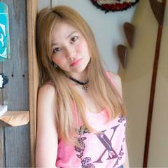 外国人風カラー 外国人風 ストレート ヘアアレンジ ヘアスタイルや髪型の写真・画像