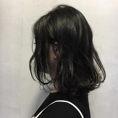 ミディアム 黒髪 外国人風 ボブ ヘアスタイルや髪型の写真・画像