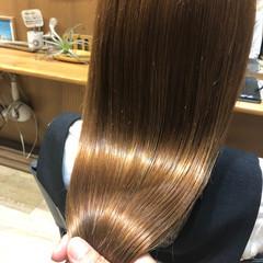 ストレート ナチュラル ロング 髪質改善 ヘアスタイルや髪型の写真・画像