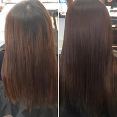 ロング 縮毛矯正 ストレート パーマ ヘアスタイルや髪型の写真・画像