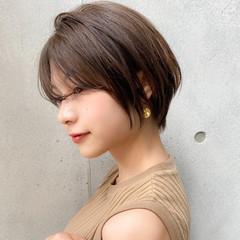 簡単スタイリング ミニボブ ハンサムショート ショート ヘアスタイルや髪型の写真・画像