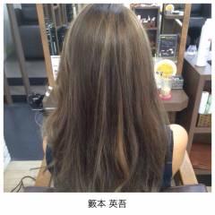 モード ロング メッシュ ヘアスタイルや髪型の写真・画像