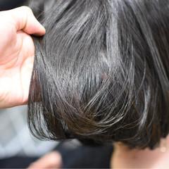 外国人風カラー ワンレングス 雨の日 梅雨 ヘアスタイルや髪型の写真・画像