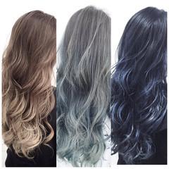 外国人風カラー ブルージュ ロング アッシュ ヘアスタイルや髪型の写真・画像