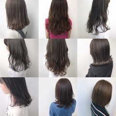 ミディアム アッシュブラウン ブラウンベージュ 外国人風 ヘアスタイルや髪型の写真・画像