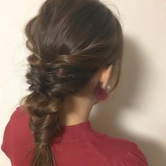 ヘアアレンジ ショート デート ナチュラル ヘアスタイルや髪型の写真・画像