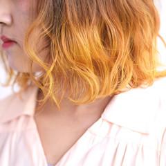 外国人風 ナチュラル インナーカラー ボブ ヘアスタイルや髪型の写真・画像