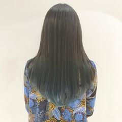 グラデーションカラー インナーカラー ロング ブリーチ ヘアスタイルや髪型の写真・画像