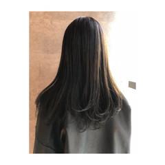 モード ロング 簡単 ヘアスタイルや髪型の写真・画像