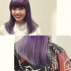 渋谷系 グラデーションカラー モード 外国人風 ヘアスタイルや髪型の写真・画像
