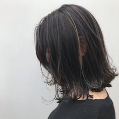 ナチュラル 女子力 ハイライト 外ハネ ヘアスタイルや髪型の写真・画像
