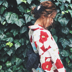 大人かわいい 夏 お祭り 花火大会 ヘアスタイルや髪型の写真・画像