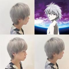 ホワイトカラー ハイトーン ストリート ショート ヘアスタイルや髪型の写真・画像