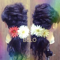 ゆるふわ 簡単ヘアアレンジ ヘアアレンジ 黒髪 ヘアスタイルや髪型の写真・画像