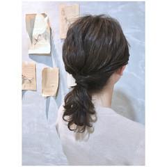 アッシュベージュ ベージュ ヘアアレンジ ナチュラル ヘアスタイルや髪型の写真・画像
