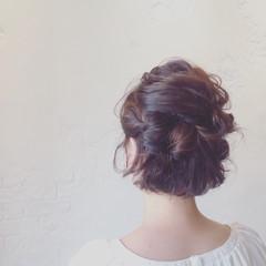 簡単ヘアアレンジ ヘアアレンジ ガーリー 結婚式 ヘアスタイルや髪型の写真・画像