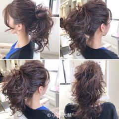 夏 ヘアアレンジ ナチュラル ポニーテール ヘアスタイルや髪型の写真・画像