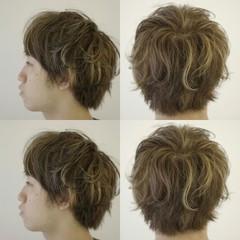 アッシュ パーマ メンズ ストリート ヘアスタイルや髪型の写真・画像