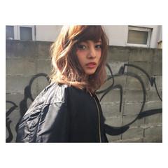 ミディアム ストリート ヘアアレンジ 大人かわいい ヘアスタイルや髪型の写真・画像