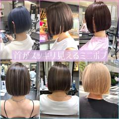 インナーカラー ストリート ミニボブ ボブ ヘアスタイルや髪型の写真・画像