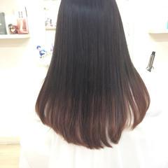 パープル ピンク グレージュ モード ヘアスタイルや髪型の写真・画像