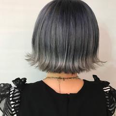 ブルー ストリート インナーブルー ブルーブラック ヘアスタイルや髪型の写真・画像