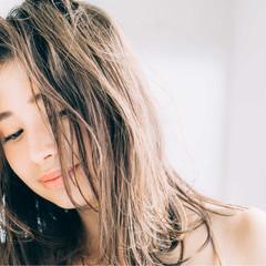 セミロング 外国人風 ブラウン 外国人風カラー ヘアスタイルや髪型の写真・画像