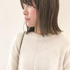 ゆるふわ 外国人風 前髪あり ミディアム ヘアスタイルや髪型の写真・画像