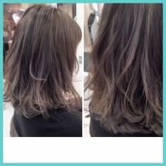 ミディアム グラデーションカラー パンク ハイライト ヘアスタイルや髪型の写真・画像
