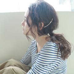 ナチュラル 無造作 ヘアアレンジ くせ毛風 ヘアスタイルや髪型の写真・画像