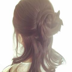 和装 アップスタイル ハーフアップ 結婚式 ヘアスタイルや髪型の写真・画像