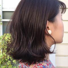 デート 透明感 ボブ ナチュラル ヘアスタイルや髪型の写真・画像