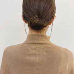 ヘアオイル ヘアアレンジ 簡単ヘアアレンジ セミロング ヘアスタイルや髪型の写真・画像