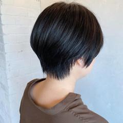 黒髪 ナチュラル ショート 大人女子 ヘアスタイルや髪型の写真・画像