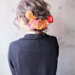 ヘアアレンジ ショート セミロング 結婚式 ヘアスタイルや髪型の写真・画像