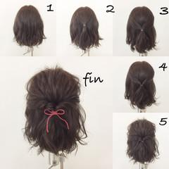 ナチュラル 大人女子 簡単ヘアアレンジ デート ヘアスタイルや髪型の写真・画像
